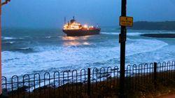 Russian Cargo Ship Stuck Just Off Cornwall