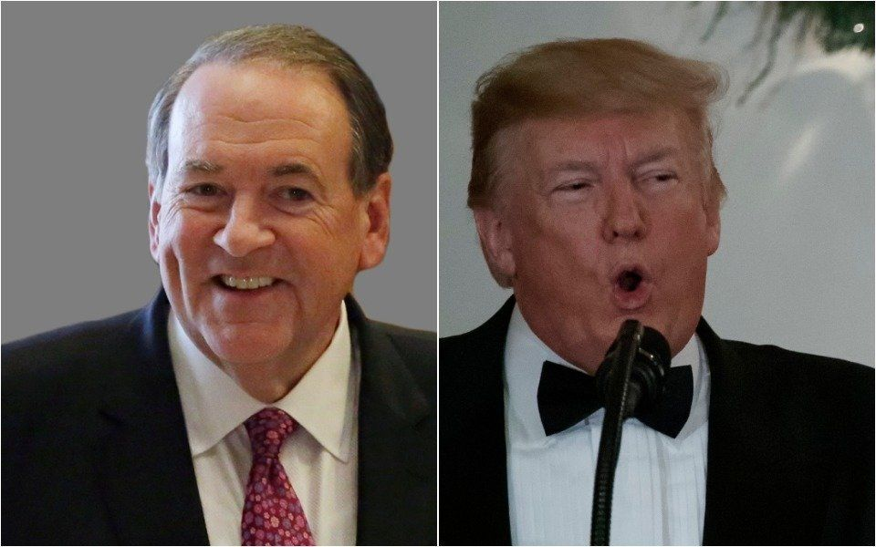 Mike Huckabee and Donald Trump