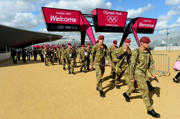 Soldiers were deployed to help out with security for the London Olympics in