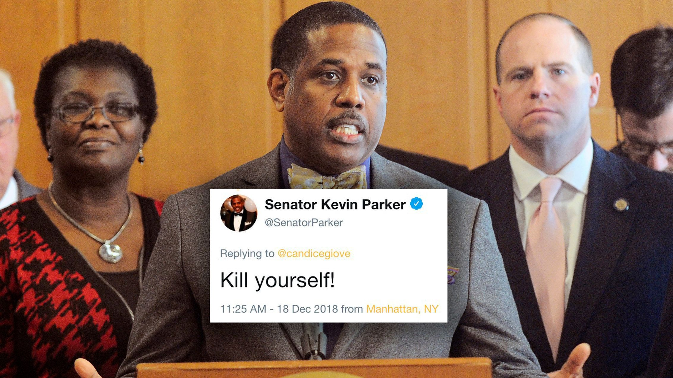 NY State Senator Tweets 'Kill Yourself' To GOP Staffer Who Called Him Out
