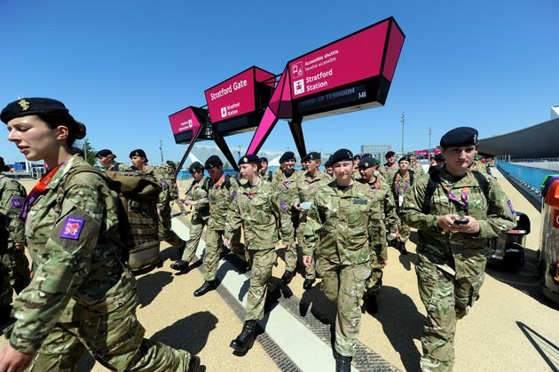 British Army troops at the 2012 Olympics