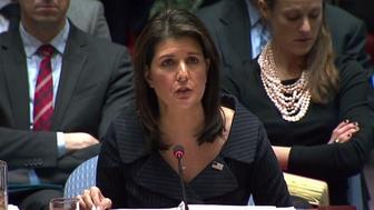 Nikki Haley delivered what is likely to be her final address to the U.N. Security Council on Tuesday. She spoke directly about the Israeli-Palestinian conflict and urged other nations to take action.