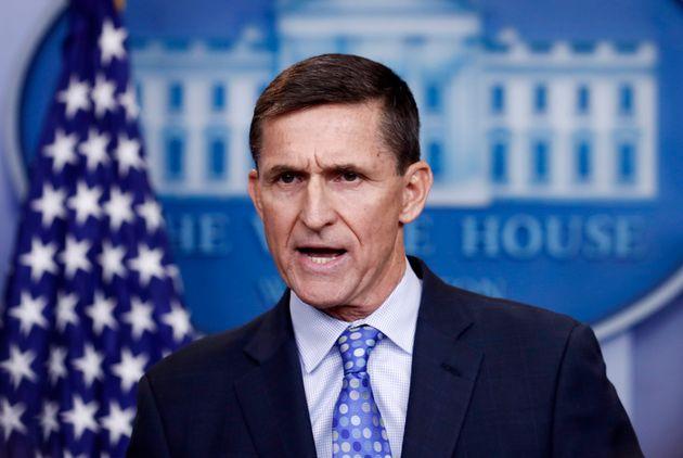 사진은 당시 백악관 국가안보보좌관 마이클 플린이 백악관 브리핑룸에서 브리핑을 하는 모습. 2017년