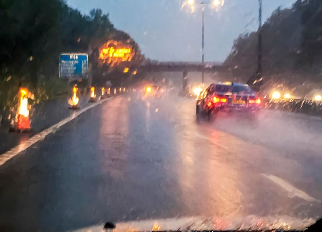 Drivers were warned over heavy rain and wet road conditions on Wednesday (file