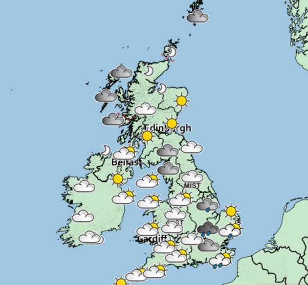 The Met Office issued its forecast for