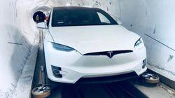 Elon Musk dévoile son tunnel pour foncer à 240 km/h sous une