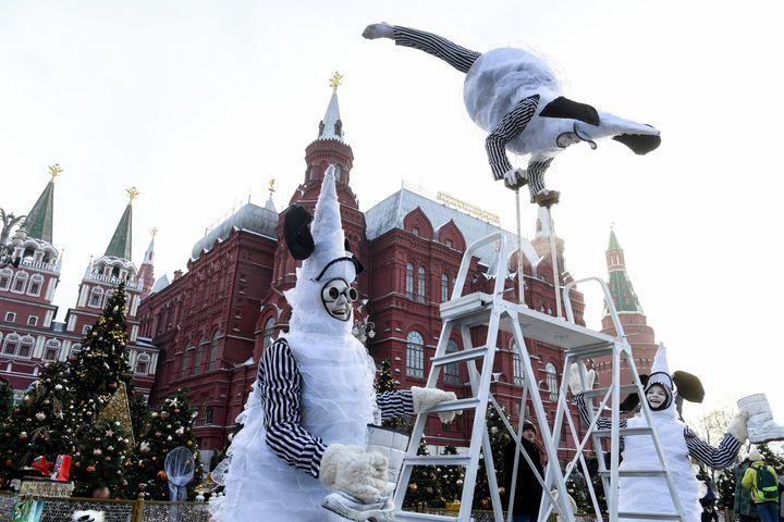 Έξω από το Κρεμλίνο, στη Μόσχα