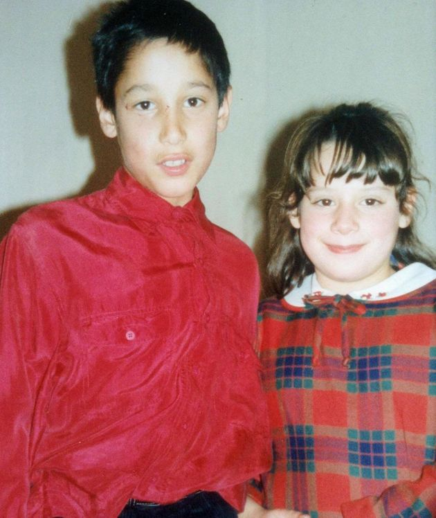 Paul Trowbridge when he was younger with sister Zoe