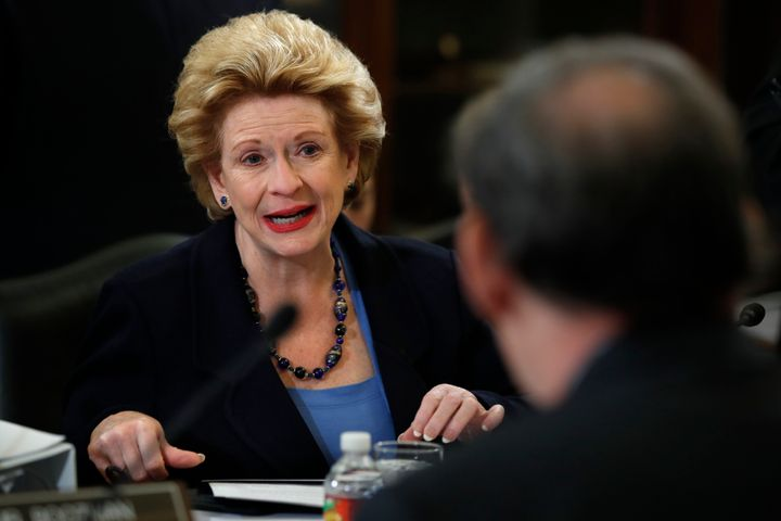 Sen. Debbie Stabenow (D-Mich.), ranking member of the Senate Agriculture Committee, speaks during a meeting of the committee