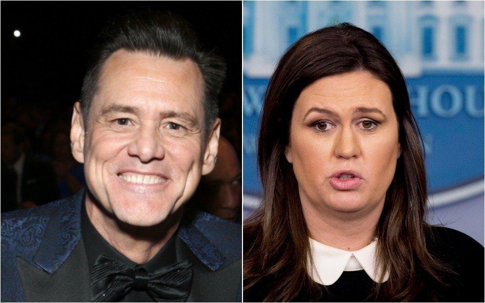 Jim Carrey and Sarah Huckabee Sanders