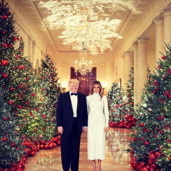 Expertin analysiert das Weihnachtsfoto von Donald und Melania Trump und ist