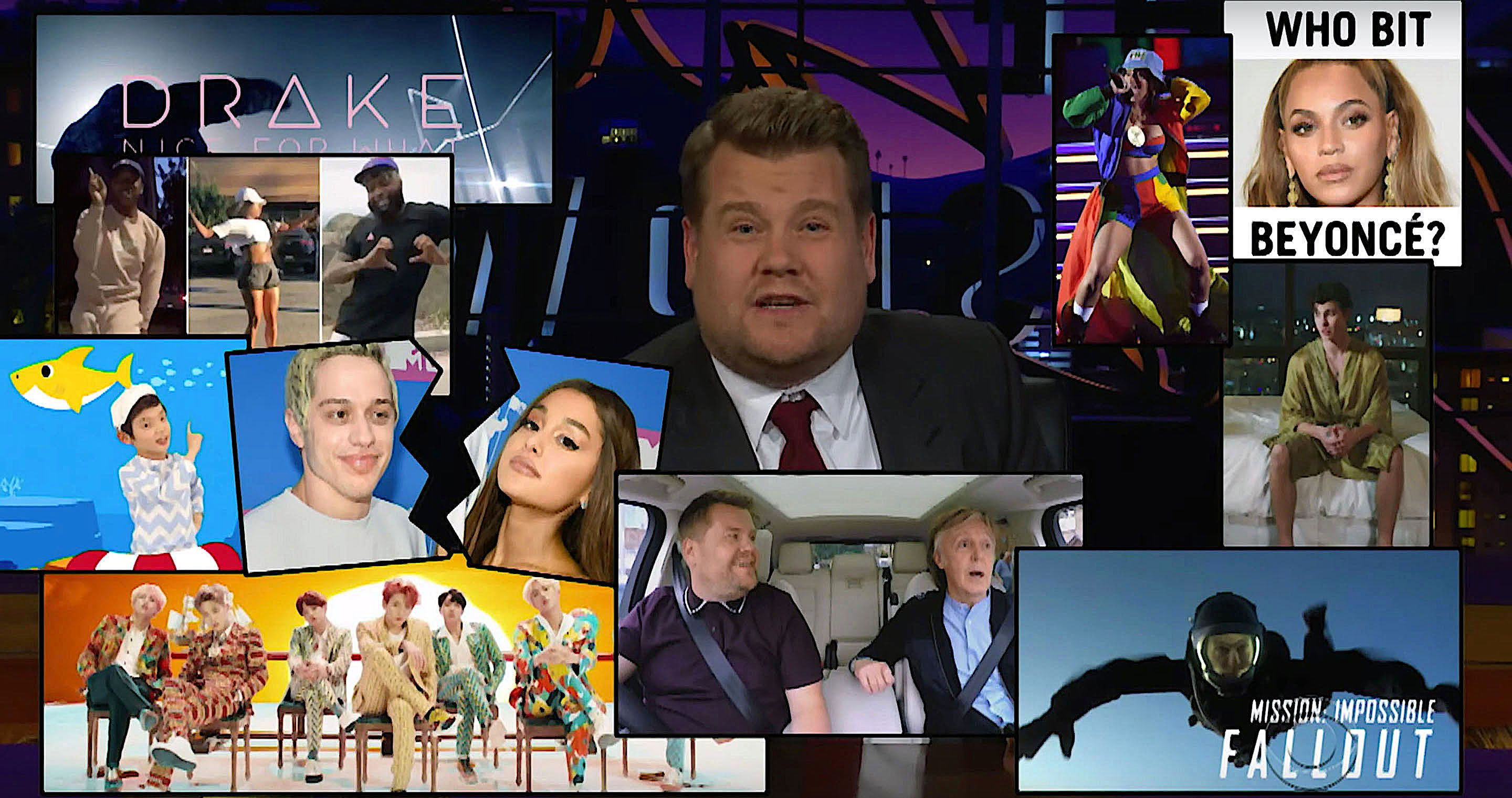 James Corden's year in review