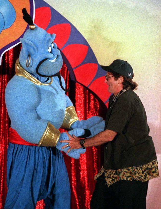 Comedy actor Robin Williams voiced the Genie in the original 'Aladdin'