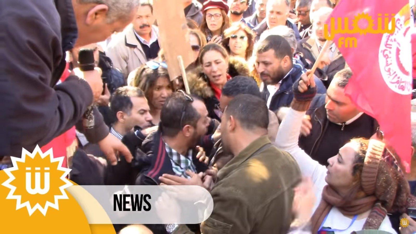 Plusieurs journalistes, dont une femme enceinte, agressés lors d'une manifestation des enseignants, le SNJT