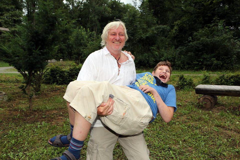 Arnold Schnittger mit seinem Sohn Nico.