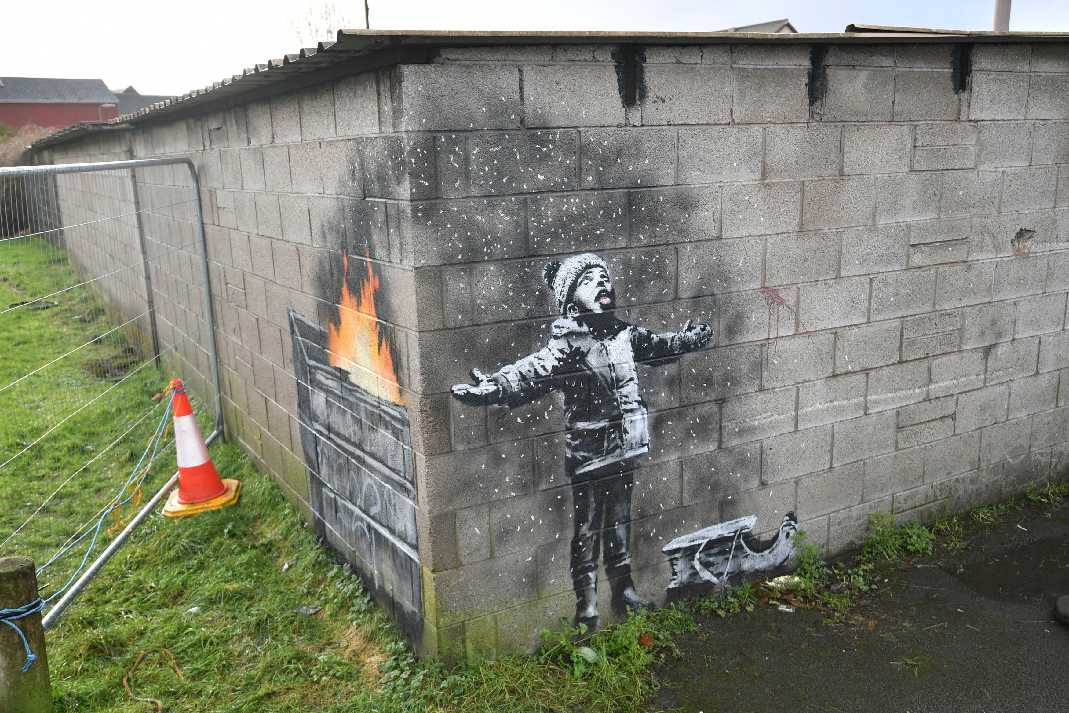 Locals in Port Talbot, Wales, first spotted the mural on Tuesday.