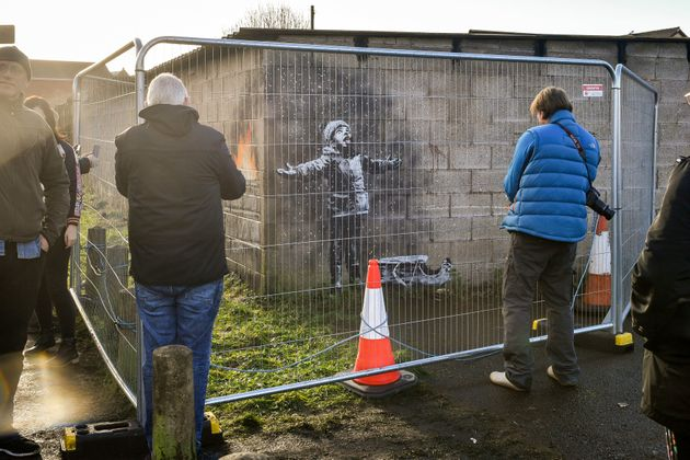 The local council cordoned off the mural to protect