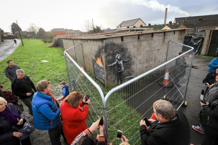Banksy confirmed he was behind the mural on Wednesday.