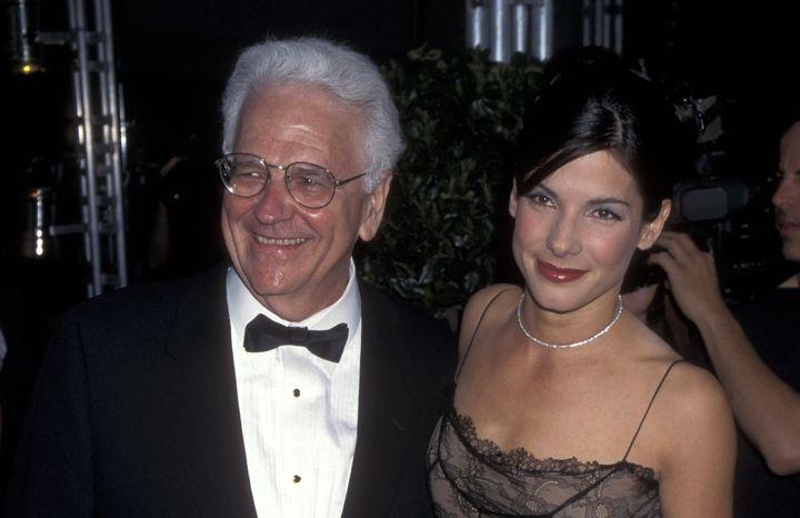John W. Bullock, pictured with daughter Sandra Bullock, died in September.