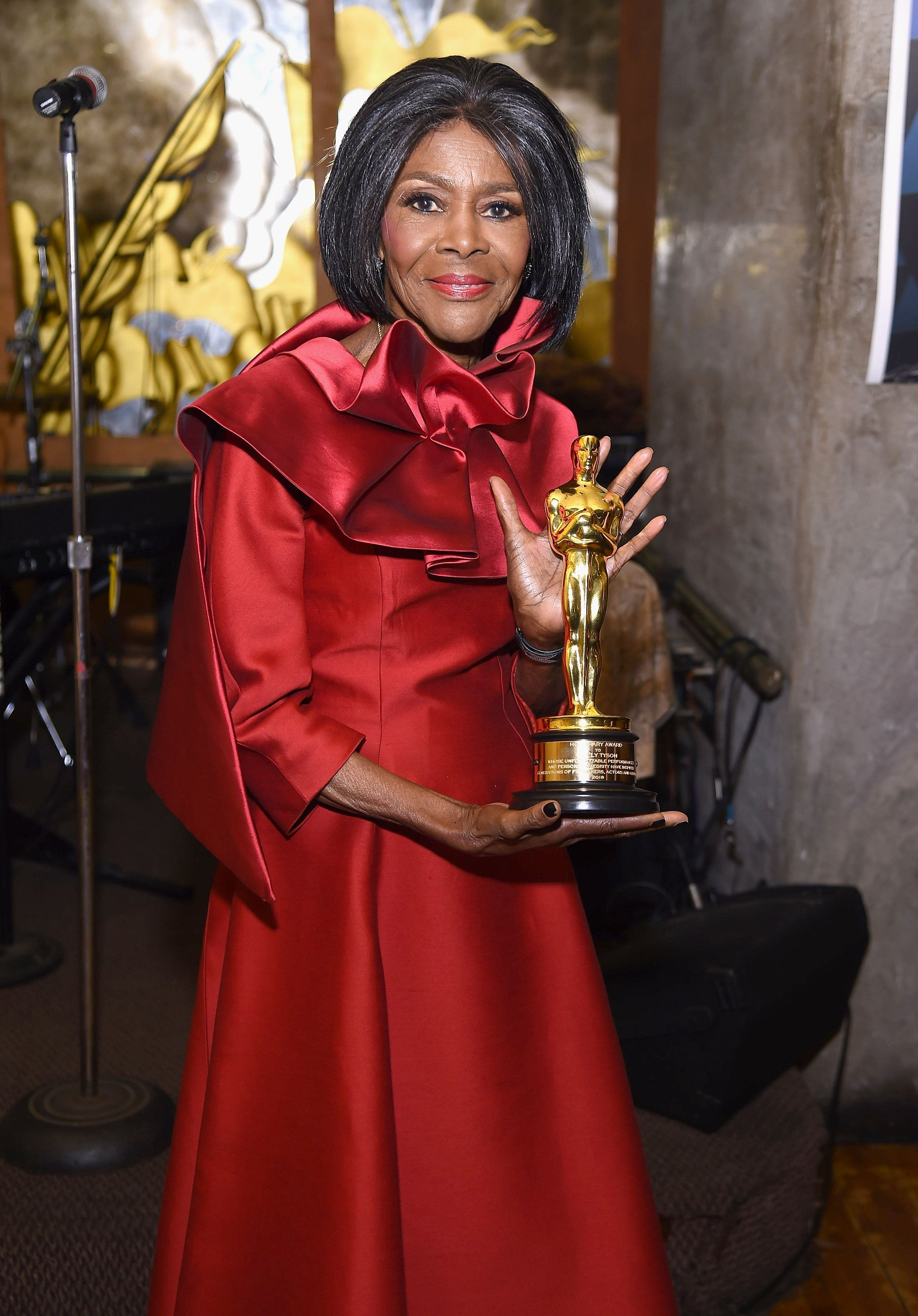NEW YORK, NY - DECEMBER 08:  Cicely Tyson attends a private reception to celebrate her honorary Oscar on December 8, 2018 in New York City.  (Photo by Gary Gershoff/Getty Images)