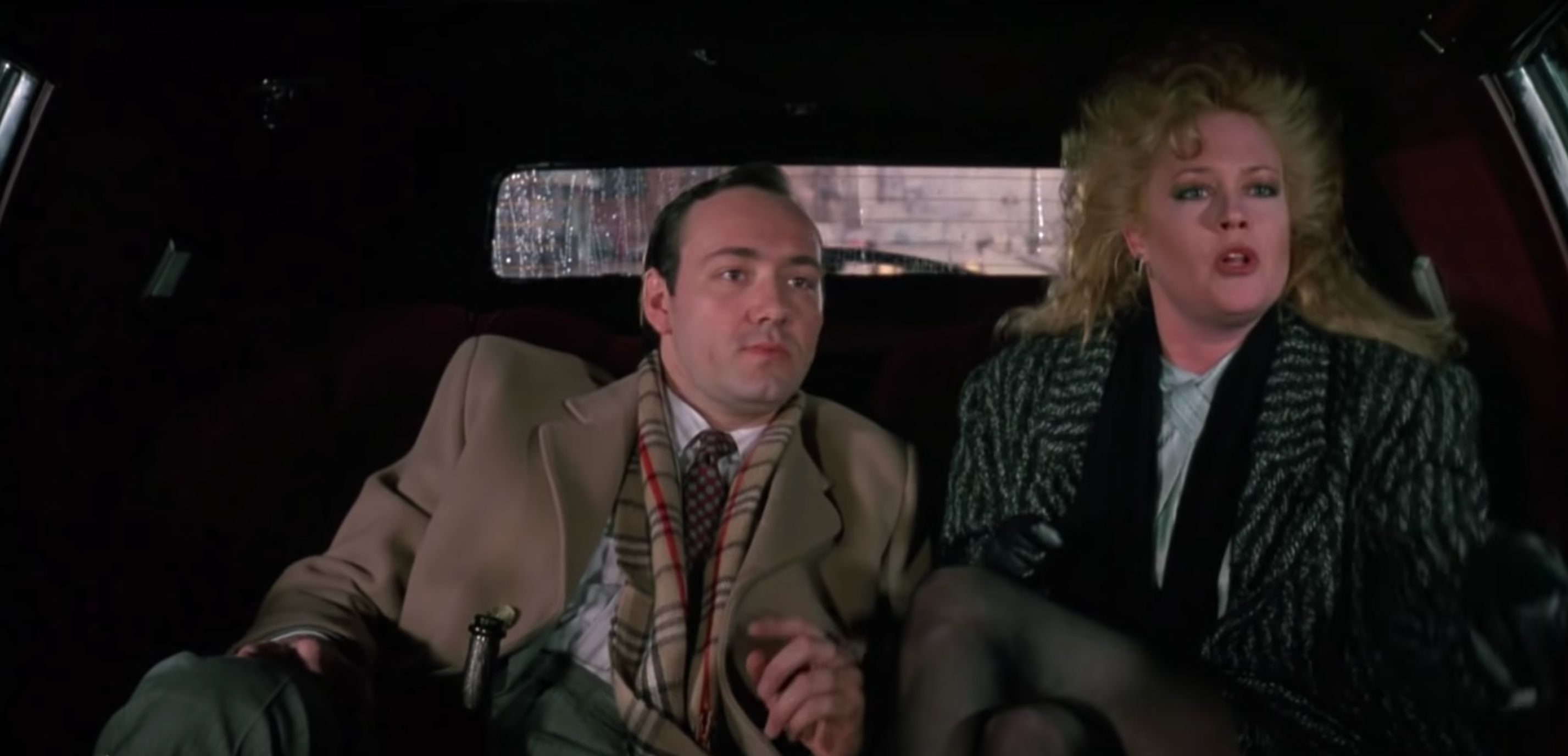 "Kevin Spacey played a workplace sexual harasser in the 1988 rom com ""Working Girl."""