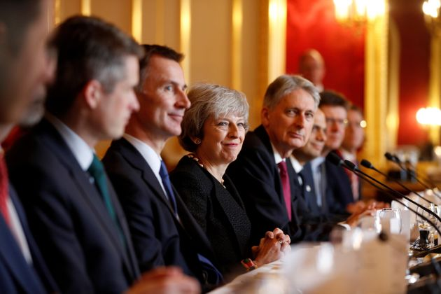 Defence Secretary Gavin Williamson, Foreign Secretary Jeremy Hunt, Prime Minister Theresa May, Chancellor...