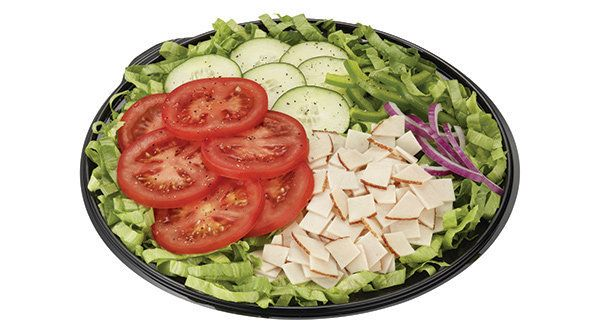 Be sure to take the dressing's nutrition into account when considering Subway's salad.
