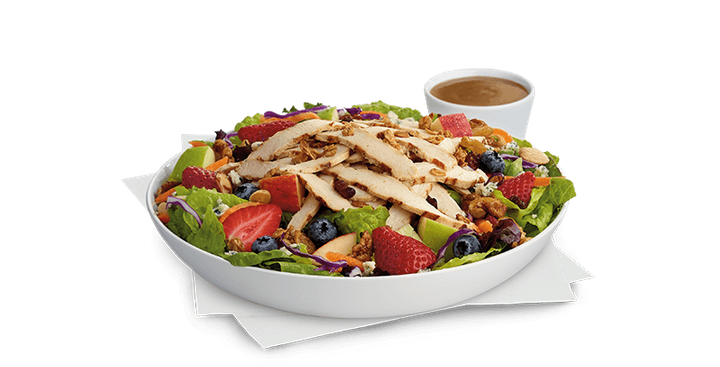 Chick-fil-A's salad is the healthiest fast food offering of the bunch.