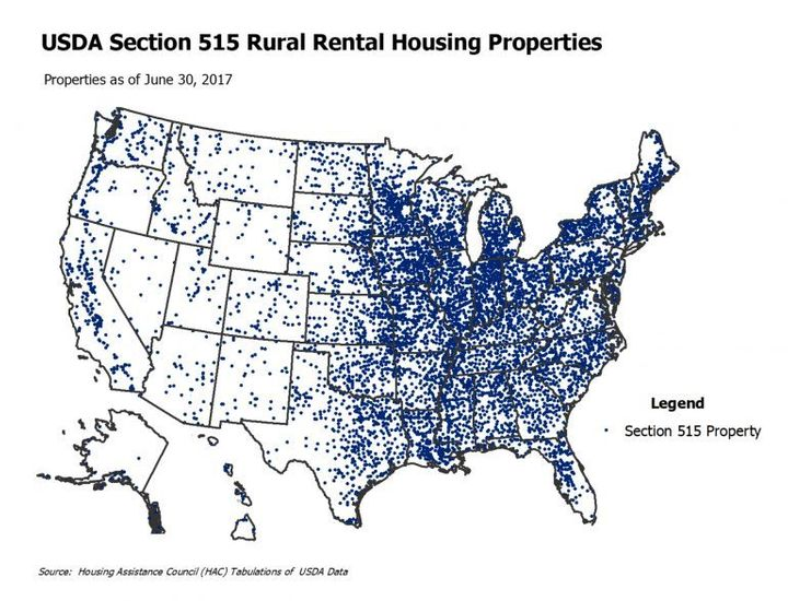 Nine out of 10 counties in the United States have rental units built through the USDA 515 rental housing program.