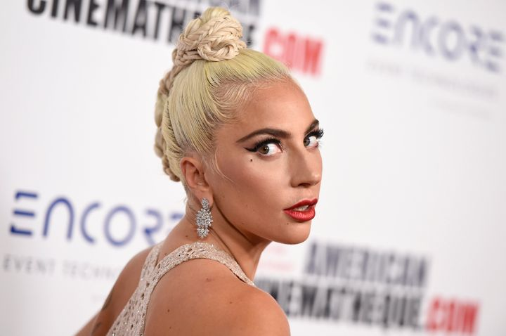 "Lady Gaga arrives at the American Cinematheque Award ceremony, Nov. 29 in Beverly Hills, California. In ""A Star Is"