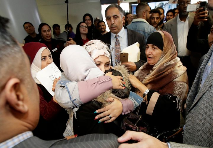 Shaima Swileh arrives in the U.S. to see her husband and son. &ldquo;This is the happiest day of my life,&rdquo; Hassan <a hr