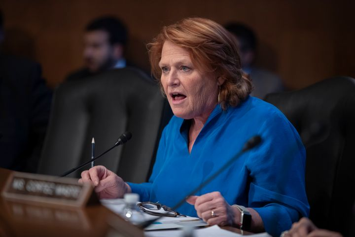 Sen. Heidi Heitkamp (N-N.D.) may be a lame duck senator, but in her final days in the Senate, she's throwing everything she's