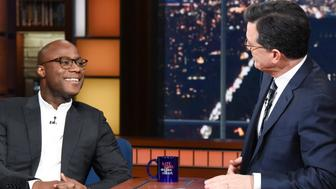 NEW YORK - DECEMBER 17: The Late Show with Stephen Colbert and guest Barry Jenkins during Monday's December 17, 2018 show. (Photo by Scott Kowalchyk/CBS via Getty Images)