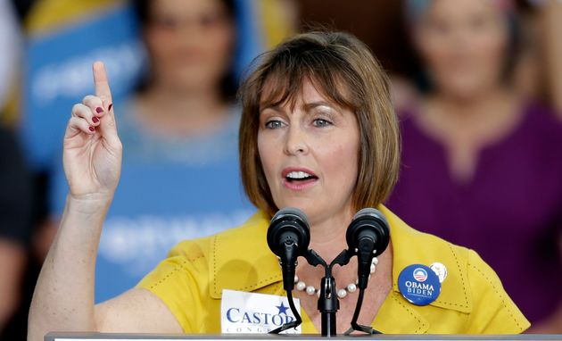 Rep. Kathy Castor (D-Fla.) at a campaign rally in