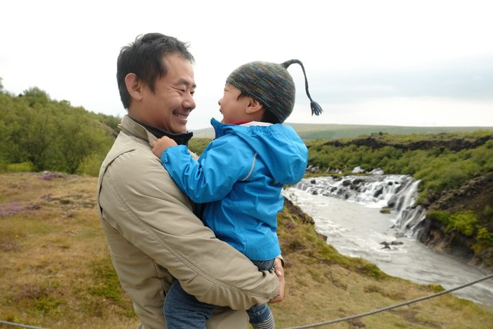 Xiyue Wang with his son Shaofan before he was imprisoned in Iran.