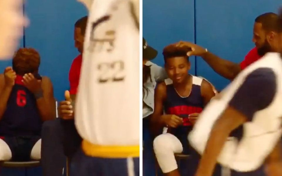 LeBron James Displays His Super Dad Powers By Uplifting Son After Rough