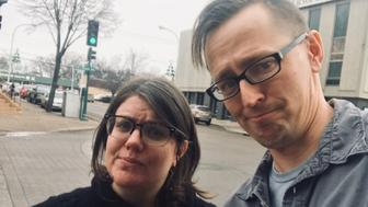 Michele Anderson and Jake Krohn in Fergus, Minnesota, where they encountered Der Spiegel's Claas Relotius.