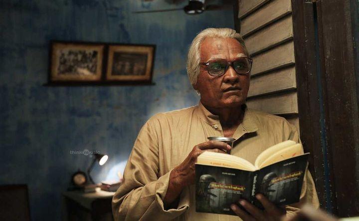 Vijay Sethupathi asAyya Aadhimoolam in 'Seethakaathi'.