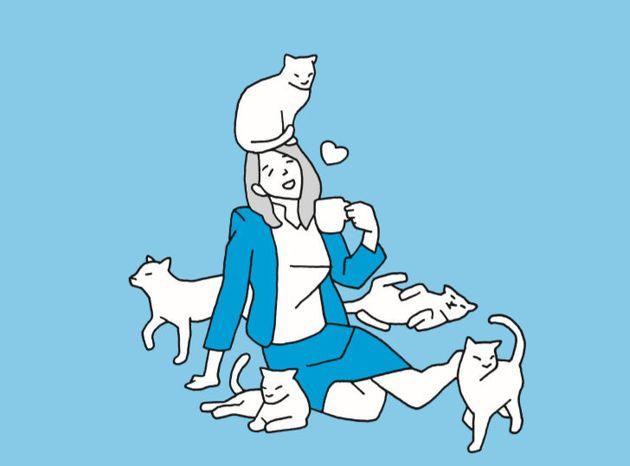 고양이는 (개와 다르게) 처음 본 사람에게도 치유효과를