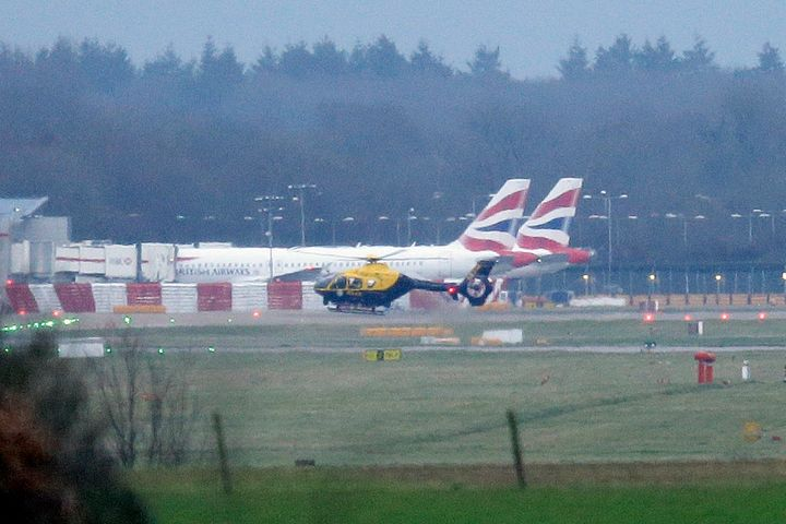 Planes were grounded at Gatwick as police and the armed forces hunted at least two 'commercial' drones.