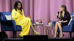 Michelle Obama Wore The Glittery, Thigh-High Boots Of Your