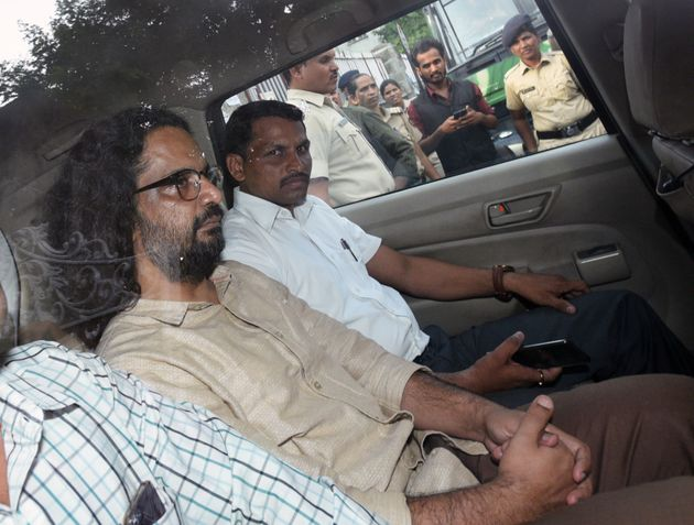 Rona Wilson arrested in alleged maoist links in Koregaon Bhima violence produced in court, on 7 June...