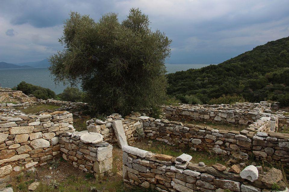 Ερείπια σπιτιών του
