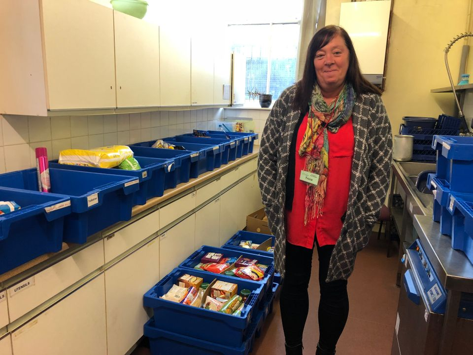 Foodbank manager Tricia