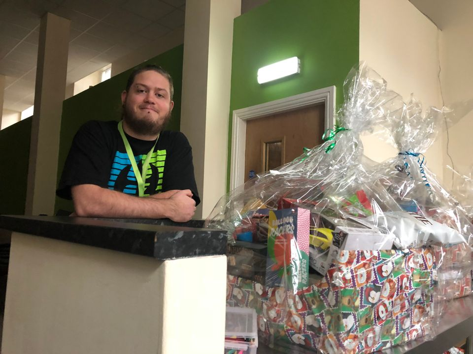 Gareth Thompson, of Christians Against Poverty, made Christmas hampers with donated food for some of...