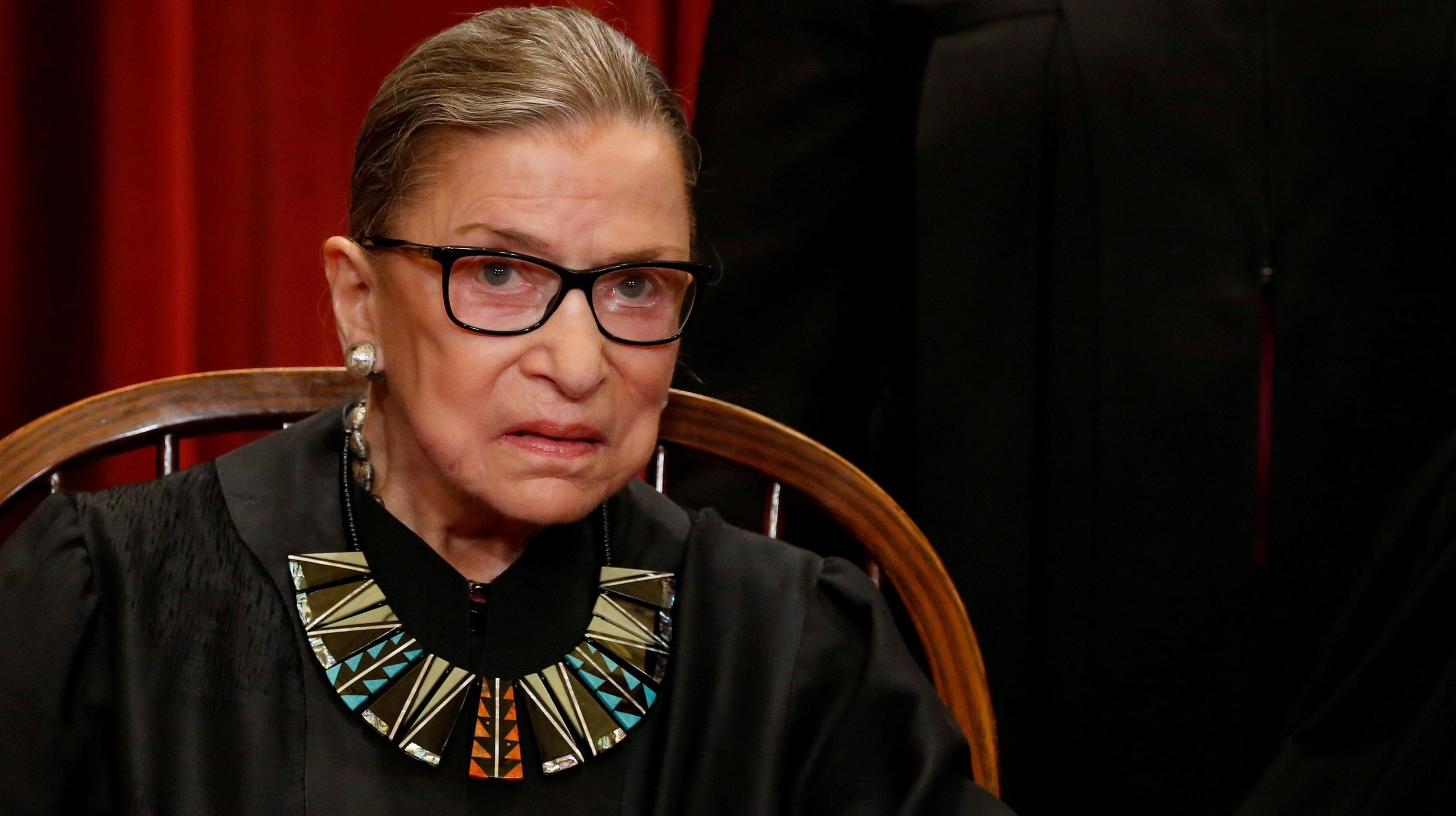 Justice Ruth Bader Ginsburg's fractured ribs led to discovery of lung cancer