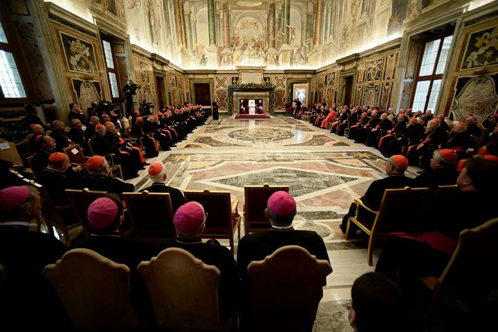 Francis emphasized in his remarks to the Roman Curia on Friday that the Catholic Church isn't the only institution dealing wi