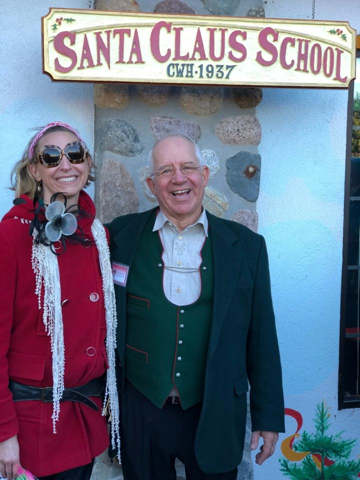 Tom Valent of the Charles W. Howard Santa Claus School and the author.