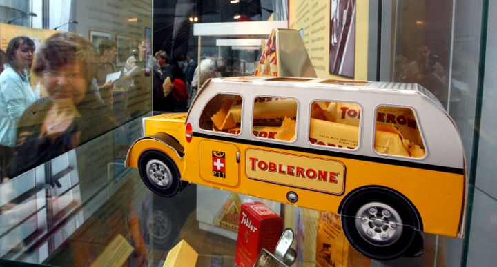 Toblerone chocolates are displayed at a Chocolate Museum in Cologne, Germany, on Thursday, Aug. 28, 2008.