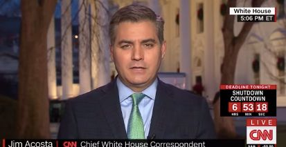 "Jim Acosta cites source saying Trump ""hates"" news coverage indicating he needs adult supervision."